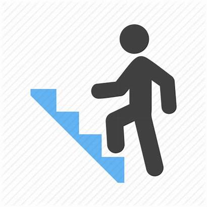 Climbing Stairs Icon Clipart Ladder Cartoon Ladders