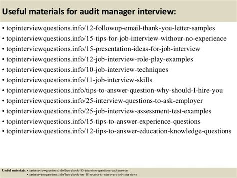 Audit Manager Questions by Top 10 Audit Manager Questions And Answers