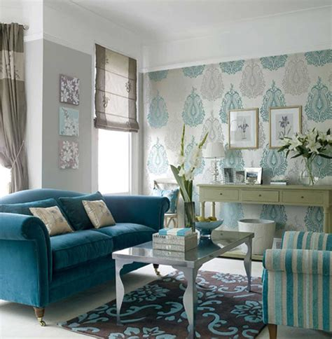 inspiring blue wallpaper small living room decosee com