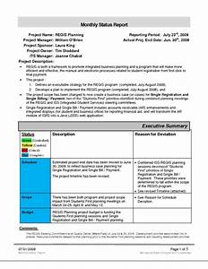 project management report templates and stunning monthly With project management manual template
