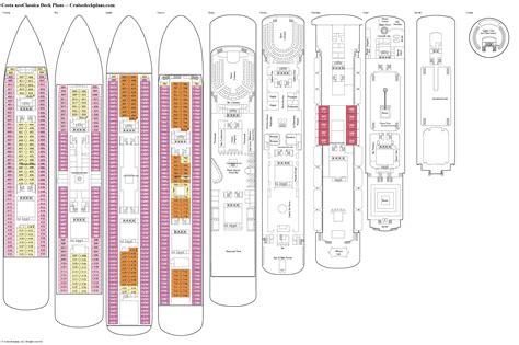 deck plans com costa neoclassica deck plans diagrams pictures