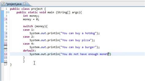 java programming switch statement  youtube