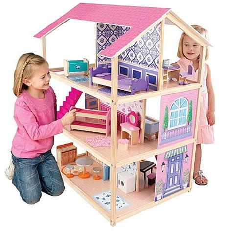dollhouse kids bookcase white pink foremost i love dollhouses where you can play on both sides doll