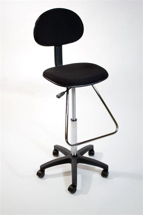 black drafting counter height stool chair bank