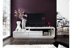 Meuble Tv Design Laqué : meuble tv design laqu blanc cbc meubles ~ Teatrodelosmanantiales.com Idées de Décoration