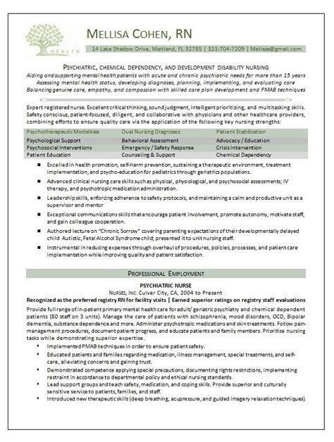 mental health nursing resume the best of magic resume