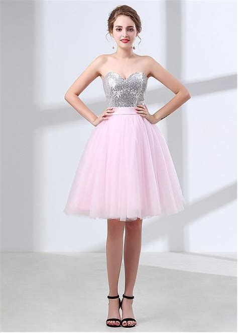 delicate sequin lace tulle sweetheart neckline short