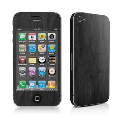 iphone skins black woodgrain decalgirl