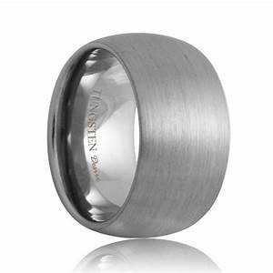 minneapolis brushed domed durable tungsten wedding ring With durable wedding rings