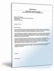 sample cover letter for software developer position o de With cover letter for software developer position
