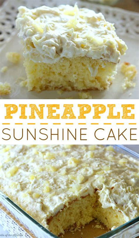 pineapple sunshine cake belle   kitchen