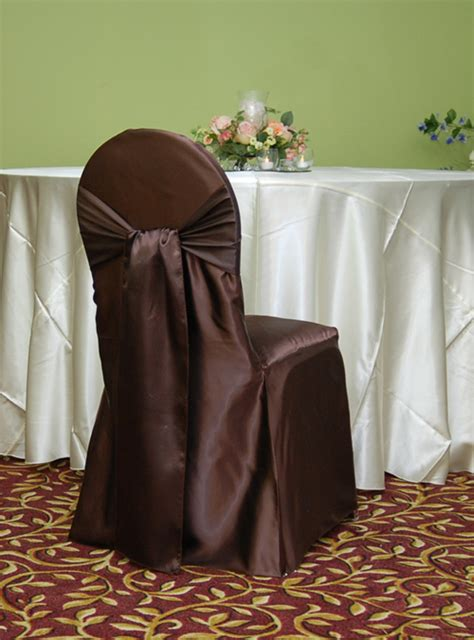 banquet chair cover brown satin