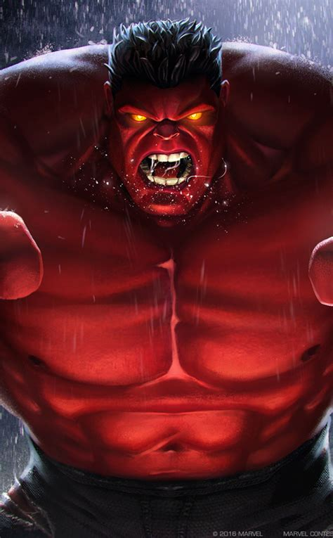 red hulk marvel contest  champions full hd wallpaper