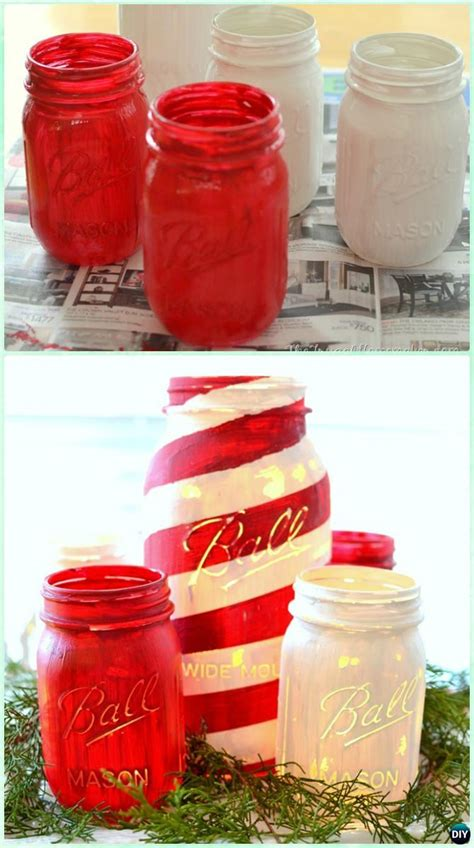 diy christmas mason jar lighting craft ideas picture