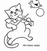 Coloring Diddle Hey Pages Fiddle Cat Clipart Template Clip Printable Popular Coloringhome Library sketch template