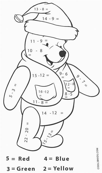 Math Coloring Worksheets Subtraction 1st Activities Graders