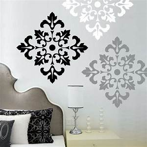 damask pattern wall decal stickers large wall stickers set With stickers for walls