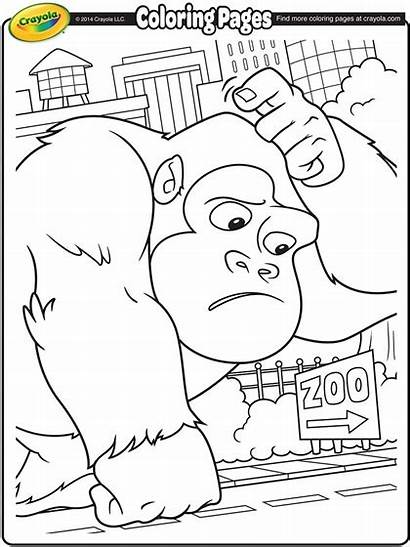 Gorilla Coloring Pages Giant Crayola Monster Critters