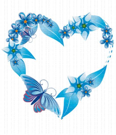 cadre coeur bleu picmix