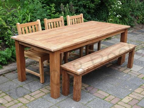 Teak Garden Table 220 X 100 Cm  Reclaimed Teak Furniture