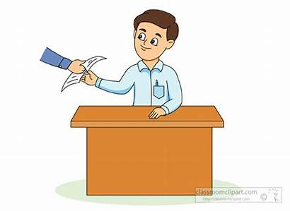 Teacher Student Paper Exam Returning Clipart Students