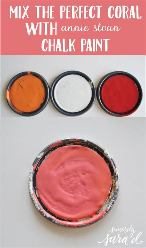 mixing the coral with chalk paint diy home decor