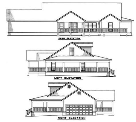 elevation of house plan house plan 82051 at familyhomeplans