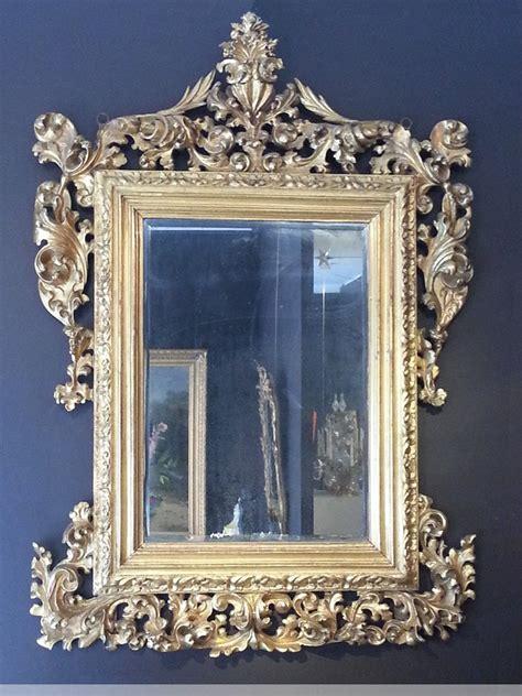 miroir en bois sculpte miroir en bois sculpt 233 et dor 233 italie xviiie si 232 cle n 41247