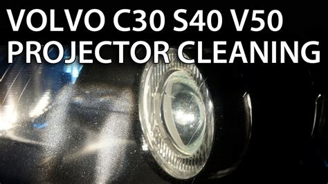 headlights projector lens disassemble  cleaning