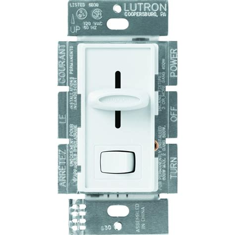 lutron fan speed control dimmer lutron skylark 1 5 amp single pole 3 speed slide to off