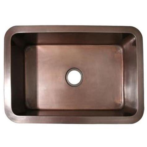 bronze undermount kitchen sink whitehaus collection undermount copper 30x20x10 0 4931