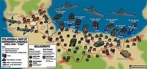 Polandball Map of D-Day Landings by kensethfan on DeviantArt