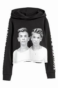 Hm Sale Kinder : short hooded sweatshirt black marcus martinus sale h m us ~ Eleganceandgraceweddings.com Haus und Dekorationen