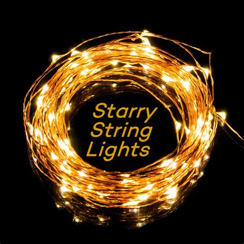 taotronics led string starry light copper wire lights for
