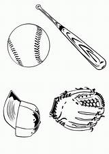 Coloring Baseball Glove Popular Clipart Library sketch template