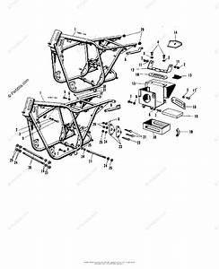 Kawasaki Motorcycle 1967 Oem Parts Diagram For Frame A1  A7