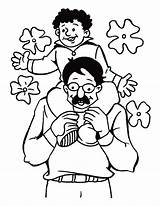 Dad Coloring Pages Siiting sketch template