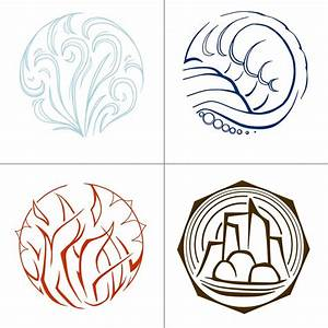 Elemental Symbols by KuroiTsukyo on DeviantArt