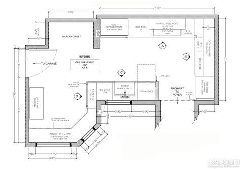 kitchen remodel floor plans 酒店厨房设计布置平面图 土巴兔装修效果图 5565