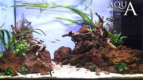 aquascaping with rocks aquascaping lab tutorial aquarium volcanic rocks