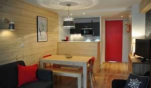 decoration appartement a la montagne exemples d39amenagements With amenagement cuisine studio montagne