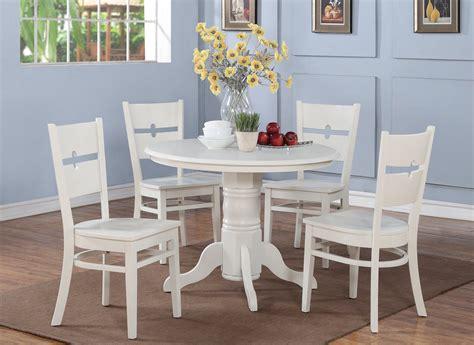 white wooden kitchen table set