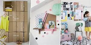 Diy Deco Recup : 15 diy recyclage construire avec du carton marie claire ~ Dallasstarsshop.com Idées de Décoration
