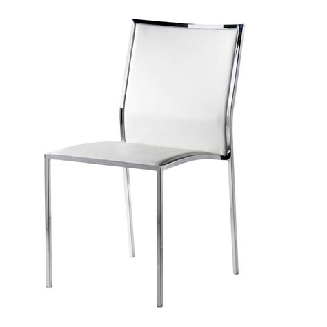 chaises simili cuir chaise design simili cuir blanc city