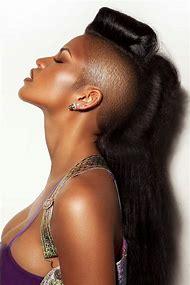 Women Mohawk Shaved Sides Long Hair