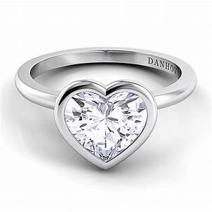 perfect heart shaped engagement rings for the real couples With heart shaped engagement rings wedding bands