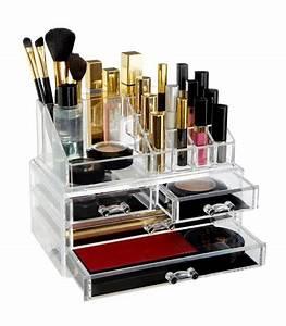 Rangement De Maquillage : rangement maquillage en acrylique transparent ~ Melissatoandfro.com Idées de Décoration