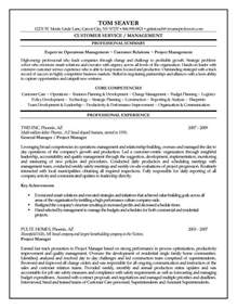 construction project management resumes sles construction and project management specialist resume
