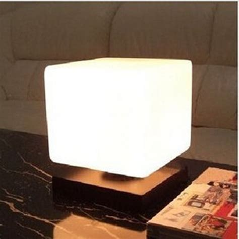 modern  frozen ice cube glass solid wood table light