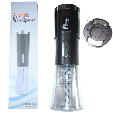 battery operated electric battery operated automatic electric wine corkscrew remover